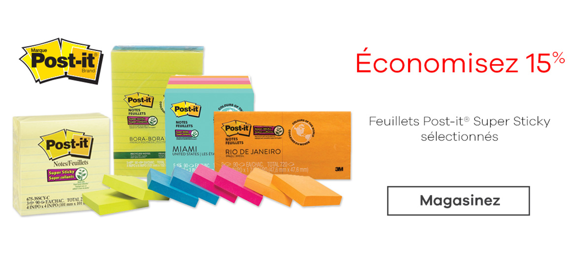 Feuillets Post-it® Super Sticky
